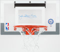 Basketball Collectibles:Others, Julius Erving Signed Mini Basketball Hoop....