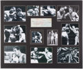 Boxing Collectibles:Autographs, 1965 Rocky Marciano Signed Personal Check Display....