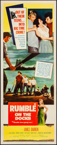 """Movie Posters:Exploitation, Rumble on the Docks & Other Lot (Columbia, 1956). Inserts (2)(14"""" X 36""""). Exploitation.. ... (Total: 2 Items)"""