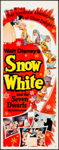 """Movie Posters:Animation, Snow White and the Seven Dwarfs (Buena Vista, R-1958). Insert (14"""" X 36""""). Animation.. ..."""