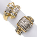 Estate Jewelry:Rings, Diamond, Gold Rings . ... (Total: 2 Items)
