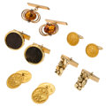Estate Jewelry:Cufflinks, Citrine, Ancient Coin, Gold Cuff Links . ... (Total: 5 Items)