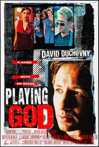 """Playing God (Touchstone, 1997). Rolled, Very Fine+. One Sheets (4) (27"""" X 40"""", 27"""" X 41""""). Crime..."""