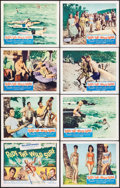 """Movie Posters:Sports, Ride the Wild Surf (Columbia, 1964). Lobby Card Set of 8 (11"""" X 14""""). Sports.. ... (Total: 8 Items)"""