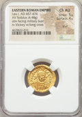 Ancients:Roman Imperial, Ancients: Leo I (AD 457-474). AV solidus (20mm, 4.48 gm, 6h). NGC Choice AU 5/5 - 4/5, scuff....