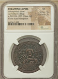 Ancients:Byzantine, Ancients: Anonymous. Class A2. Time of Basil II and ConstantineVIII (ca. AD 976-1035). AE follis (32mm, 13.86 gm, 6h). NGC VF 5/5- 3/5...