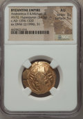 Ancients:Byzantine, Ancients: Andronicus II Palaeologus and Michael IX (AD 1294-1320).AV/EL hyperpyron (23mm, 3.43 gm, 6h). NGC AU 3/5 - 5/5....
