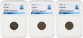 Explorers:Space Exploration, Indian Cent Group: 1870 G4 BN NGC; 1876 AG3 BN NGC; and 1890 G6 BN NGC all Directly From The Armstrong Family Collecti...