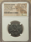 Ancients:Byzantine, Ancients: Anonymous. Class A3. Time of Basil II-Constantine VIII(ca. AD 1020-1028). AE follis (27mm, 9.69 gm, 6h). NGC Choice AU4/5 - ...