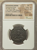 Ancients:Byzantine, Ancients: Anonymous issue during the reign of Romanus IV Diogenes(ca. AD 1068-1071). Class G. AE follis (29mm, 6.30 gm, 6h). NGC XF4/5...