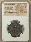 Ancients:Byzantine, Ancients: Romanus IV Diogenes (AD 1068-1071). AE follis (30mm,10.34 gm, 7h). NGC Choice XF 5/5 - 3/5....