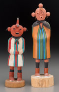 American Indian Art:Jewelry and Silverwork, Two Contemporary Hopi Kachina DollsOne by Wilson Kaye... (Total: 2)
