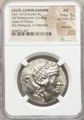 Ancients:Celtic, Ancients: DANUBE REGION. Balkan Tribes. After 146 BC. ARtetradrachm (32mm, 16.45 gm, 12h). NGC AU  5/5 - 2/5,brushed....