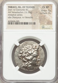 Ancients:Celtic, Ancients: DANUBE REGION. Balkan Tribes. After 146 BC. ARtetradrachm (32mm, 16.70 gm, 11h). NGC Choice XF 5/5 - 4/5....