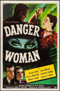"Movie Posters:Drama, Danger Woman (Universal, 1946). One Sheet (27"" X 41""). Drama.. ..."