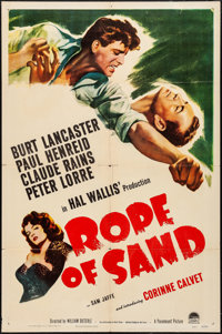 "Rope of Sand (Paramount, 1949). One Sheet (27"" X 41""). Adventure"