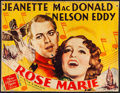 """Movie Posters:Musical, Rose Marie (MGM, 1936). Rolled, Very Good+. Trimmed Half Sheet (20""""X 26.25""""). Musical.. ..."""