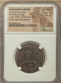 Ancients:Byzantine, Ancients: Anonymous. Class A3. Time of Basil II and ConstantineVIII (ca. AD 1020-1028). AE follis (26mm, 8.20 gm, 6h). NGC ChoiceAU 4/...