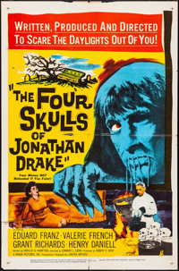 """The Four Skulls of Jonathan Drake & Other Lot (United Artists, 1959). One Sheets (2) (22"""" X 28""""). Horror..."""
