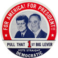 Political:Pinback Buttons (1896-present), Kennedy & Johnson: Uncommon Philadelphia Badge Jugate. ...