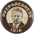 Political:Pinback Buttons (1896-present), Theodore Roosevelt: Scarce 1916 Hopeful Picture Pin. ...