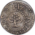 Colonials, 1652 3PENCE Pine Tree Threepence, No Pellets at Trunk, XF45 PCGS. Noe-36, W-640, Salmon 2-B, R.4....