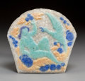 Art Glass:Other , Henri Cros Pate-de-Verre Glass Leda and the Swan Panel.Circa 1900. Ht. 6-1/2 x Wd. 7 in.. ...