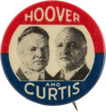 Political:Pinback Buttons (1896-present), Hoover & Curtis: Scarce St. Louis Button Company Jugate. ...