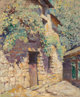 Alson Skinner Clark (American, 1876-1949) Sunlit Doorway Oil on canvas 18 x 15 inches (45.7 x 38.1 cm) Signed lower