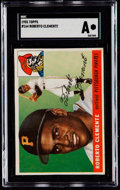 Baseball Cards:Singles (1950-1959), 1955 Topps Roberto Clemente #164 SGC Authentic....