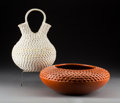 American Indian Art:Pottery, Two Southwest Pottery Vessels. Stella Shutiva and Garnet Pavatea...(Total: 2 Items)