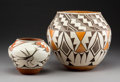 American Indian Art:Pottery, Two Southwest Polychrome Jars. Dominguita Pino and L. R. Vallo...(Total: 2 Items)