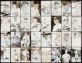 Autographs:Post Cards, Chicago Cubs Signed Postcard Lot of 41.. ...