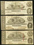 Confederate Notes:1863 Issues, T58 $20 (3) 1863 PF-17 Cr. 426; PF-28 Cr. 427; PF-29 Cr. 428.. ...(Total: 3 notes)