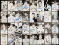 Autographs:Post Cards, New York Yankees Signed Postcard Lot of 58 with Elston Howard.. ...