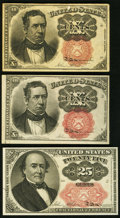 Fractional Currency:Fifth Issue, Fifth Issue Fractionals.. ... (Total: 3 notes)