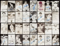 Autographs:Photos, Cincinnati Reds Signed Postcard Lot of 40 with Ted Kluszewski. ....