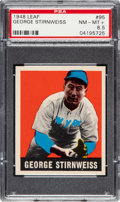 Baseball Cards:Singles (1970-Now), 1948 Leaf George Stirnweiss #95 PSA NM-MT+ 8.5....