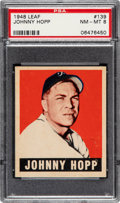 Baseball Cards:Singles (1940-1949), 1948 Leaf Johnny Hopp #139 PSA NM-MT 8 - Three Higher. ...