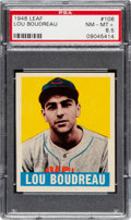 Baseball Cards:Singles (1940-1949), 1948 Leaf Lou Boudreau #106 PSA NM-MT+ 8.5 - Pop One, One Higher! ...