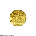 Commemorative Gold: , 1915-S $2 1/2 Panama-Pacific Quarter Eagle MS65 PCGS. Richgreen-gold color blankets smooth, satiny surfaces. The Pan-Pac Q...