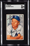 Baseball Cards:Singles (1950-1959), 1952 Bowman Mickey Mantle #101 SGC VG 3....
