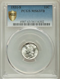 Mercury Dimes, 1931-S 10C MS63 Full Bands PCGS Secure. PCGS Population: (27/206). NGC Census: (5/35). Mintage 1,800,000....
