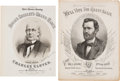 Political:Small Paper (pre-1896), Ulysses S. Grant and Horace Greeley: Pictorial Campaign SheetMusic....