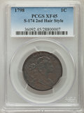 Large Cents, 1798 1C Second Hair Style, S-174, B-35, R.2, XF45 PCGS. PCGS Population: (1/6). NGC Census: (3/4). CDN: $2,800 Whsle. Bid f...