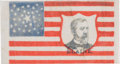 Political:Ribbons & Badges, James G. Blaine: Mini Portrait Flag....