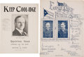 Political:Small Paper (1896-present), Calvin Coolidge: Two Pieces of Rare Sheet Music From 1924.... (Total: 2 Items)