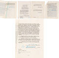 Movie/TV Memorabilia:Autographs and Signed Items, Abbott & Costello Legal Contracts (4) Signed....
