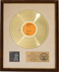 Music Memorabilia:Memorabilia, David Bowie David Live RIAA White Matte Gold Record SalesAward Presented to the Artist (RCA/Victor CPL2-0771, 197...