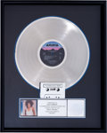 Music Memorabilia:Awards, Whitney Houston Whitney RIAA Hologram Platinum Album Sales Award (Arista AL-8405, 1987). ...